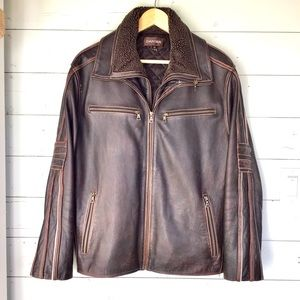 DANIER   Leather Jacket w/Removable Lining   LARGE
